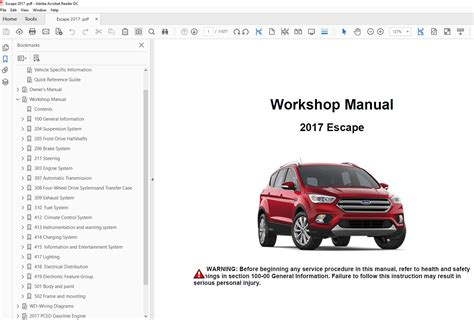 ford escape   repair manual