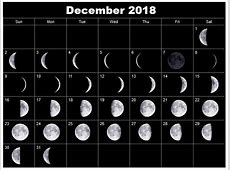 Get December 2018 Full Moon Calendar Template December