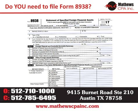 form 8938 instructions world of exle