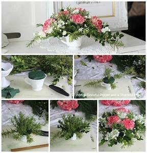 How To Make A Floral Christmas Centerpiece Grateful