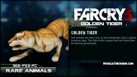 Far Cry Hunting Rare Animals Golden Tiger Youtube