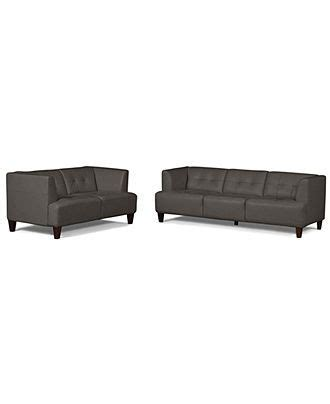 Alessia Leather Sofa Living Room by Alessia Leather Sofas 2 Set Sofa And Loveseat