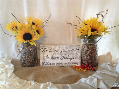 Memorial Table Sign Wedding memory table sign Country