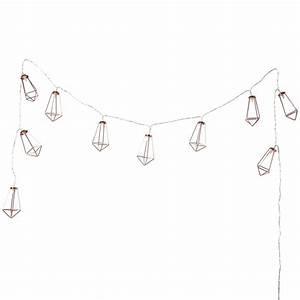 Guirlande Lumineuse Salon : guirlande lumineuse en m tal l 185 cm diamond copper maisons du monde ~ Melissatoandfro.com Idées de Décoration