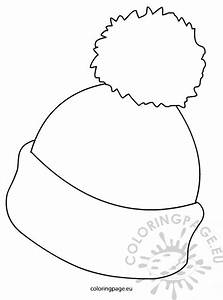 winter hat picture coloring page With snow hat template