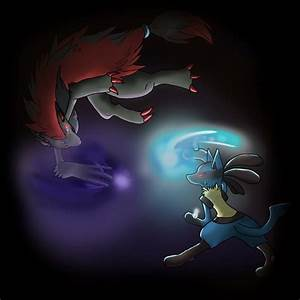 Lucario vs Zoroark by Snowyzi on DeviantArt