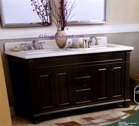 costco vanities double sink costco 60 wood vanity with porcelain double sink 799 99