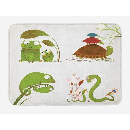 reptile bath mat reptile family colorful baby collection snake frog ninja turtles love mother