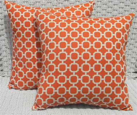 Pillow Slipcovers by 2 Pk Decorative Throw Zipper Pillow Covers Orange