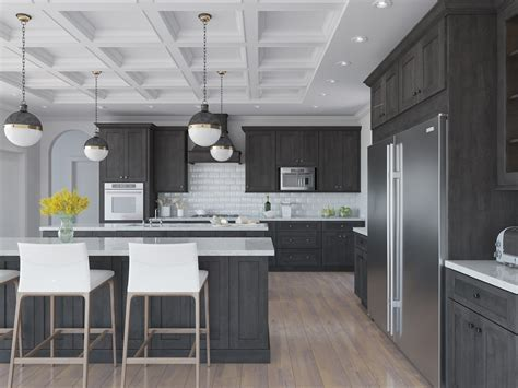 Natural Grey Shaker Pre Assembled Kitchen Cabinets   The