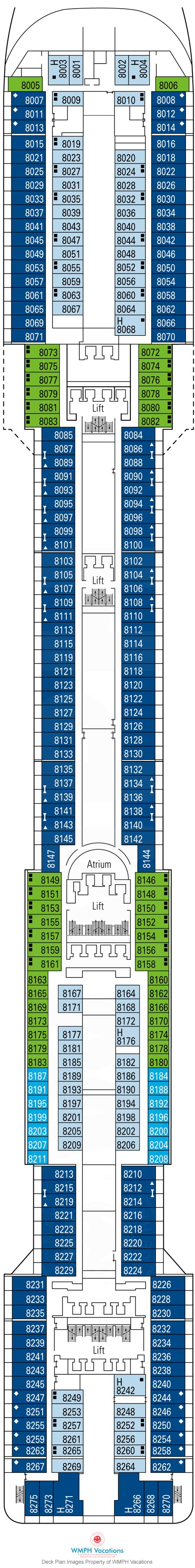 Msc Divina Deck Plan 11 by Msc Divina Deck Plans Deck 8 What S On Deck 8 On Msc