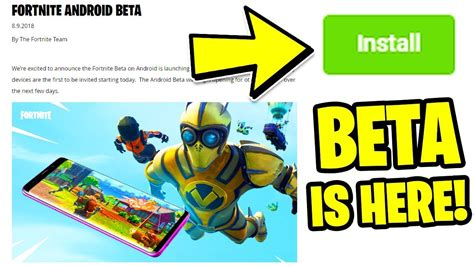 fortnite mobile android beta