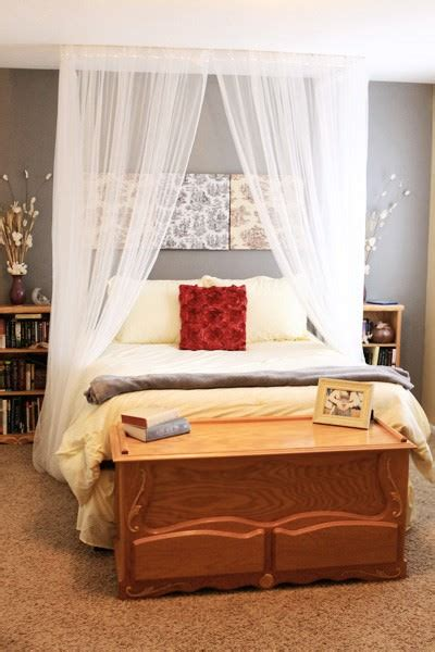 diy canopy bed diy canopies on a budget the budget decorator