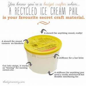 Use a Recycled Ice Cream Pail as a Craft Material The