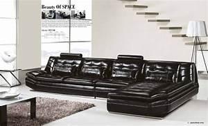 Luxury Italian Top Grain leather,3.7M Length L Shaped Sofa ...