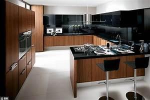 une cuisine avec ilot central cote maison With plan maison en ligne 10 cuisine lapeyre prix quelle cuisine lapeyre acheter