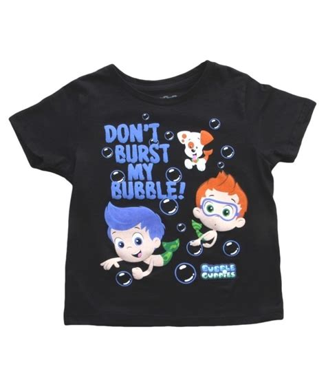 toddler bubble guppies don t burst my bubble t shirt
