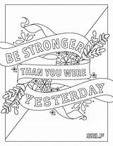 Coloring Quotes Adult Bunk Inspirational Quote Bed Printable Stress Self Sad Colouring Sheets Words Fitness Sayings Related Beds Getcolorings Doodles sketch template