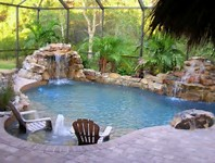 Pool Waterfalls Ideas water features and pool landscaping portfolio Natural Swimming Pool