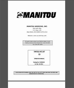 Manitou Truck Mounted Forklift Parts Manuals  U0026 Operator