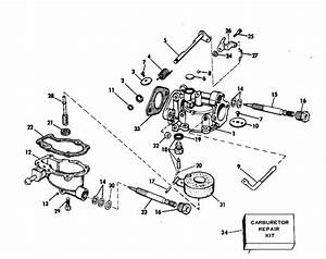 Evinrude Carburetor Parts For 1975 4hp 4536a Outboard Motor
