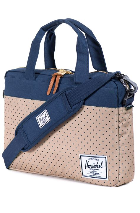 herschel supply   hudson messenger bag  navy blue  men lyst