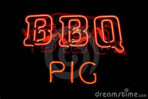 BBQ Pig Neon Sign Royalty Free Stock Image
