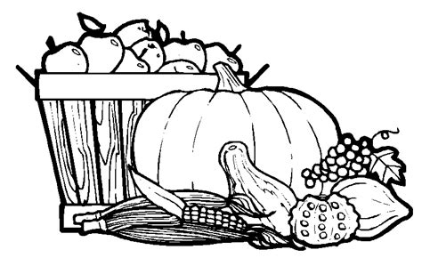 Harvest Coloring Pages Harvest Basket Coloring Page Coloring Pages