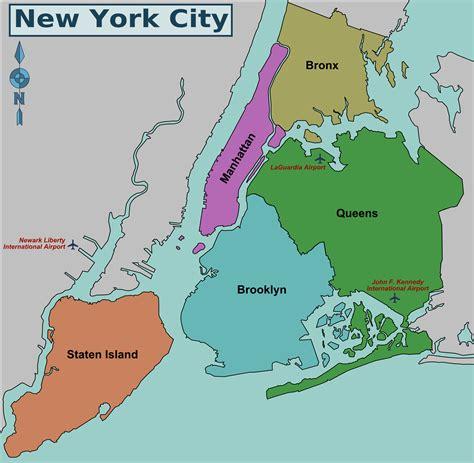 Map Of Nyc 5 Boroughs And Neighborhoods