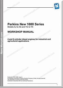 Perkins 1000 Series Aj To As Yg To Yk Workshop Manual