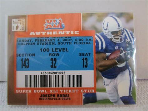 2007 Topps Exclusive Joseph Addai Authentic Xli Super Bowl