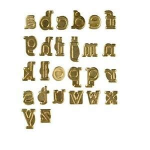 wood burning hot stamps lowercase alphabet personalization