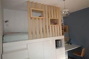 Amenagement d39une chambre d39adolescent avec un lit cabane for Amenagement chambre ado avec épaisseur d un matelas