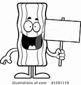 Bacon Clipart Mascot Thoman Cory Illustrationsof sketch template