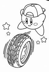 Coloring Rolling Kirby Tire Pages 874px 87kb sketch template