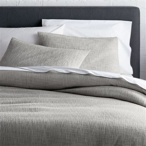 lindstrom grey duvet covers  pillow shams crate