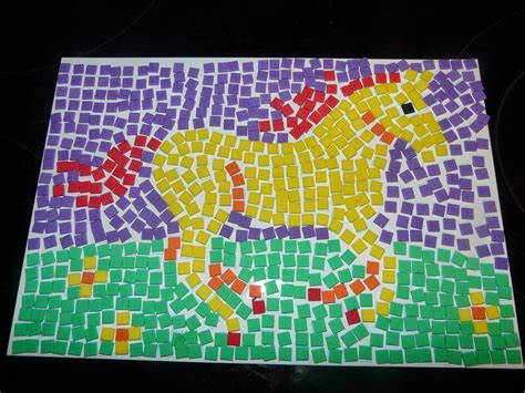Paper Mosaic Art Projects For Kids