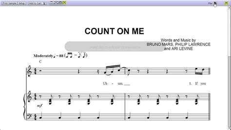 count on me by bruno mars piano sheet music teaser youtube