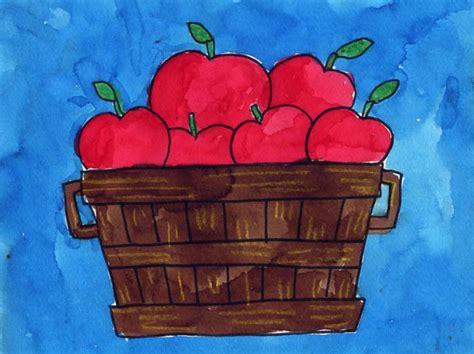 draw  bushel  apples art projects  kids