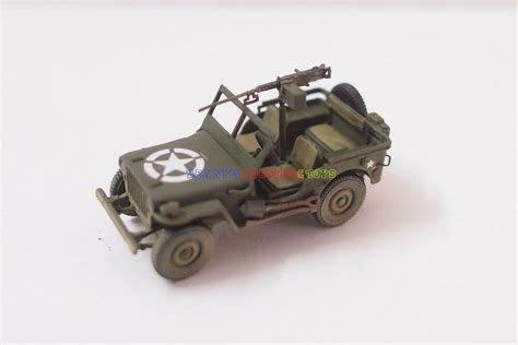 1 X New 1/72 Us America Willys Jeep (built & Color Paint