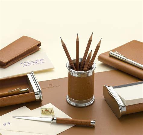set bureau gvfc set d 39 accessoires de bureau cuir epsom grainé