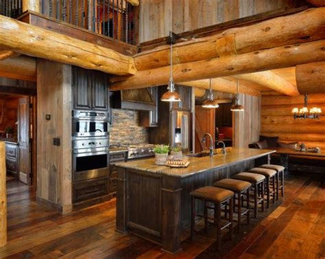 Small Log Cabin Kitchens