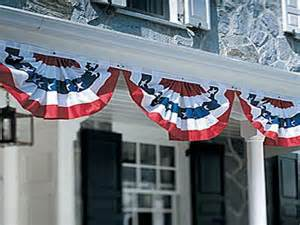 Patriotic Bunting Flags Porches