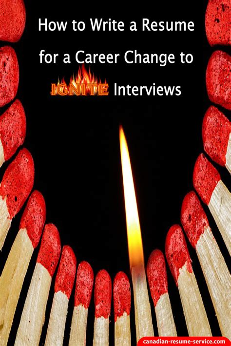 how to write a resume for a career change to ignite interviews