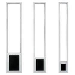 Pride Pet Panel Patio Pet Door for Sliding Glass Doors - White