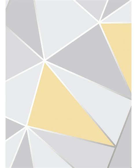 grey yellow apex geometric wallpaper yellow and grey fine decor fd41991
