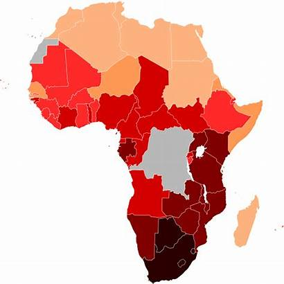 Hiv Africa Aids Svg Map Wikipedia South