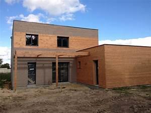 Maison Bois Contemporaine : maison bois kit contemporaine pose assistee becokit maisons ossature bois ~ Preciouscoupons.com Idées de Décoration