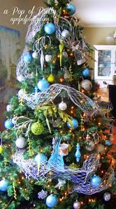 Turquoise, Christmas, Tree, Decorations