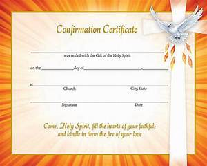 Inspirational confirmation certificates box of 50 for Catholic confirmation certificate